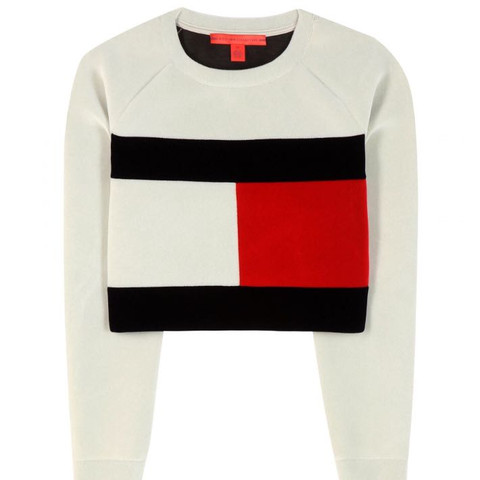 Tommy Hilfiger Sweater Cropped - (Mode, Tommy Hilfiger, Sweater)