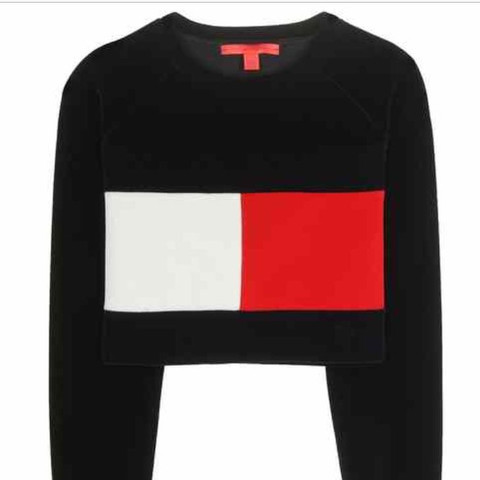Tommy Hilfiger Sweater Cropped Flag - (Mode, Tommy Hilfiger, Sweater)