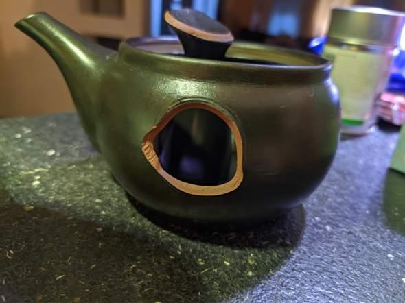 Ton Teekanne zerbrochen, kann man das reparieren (kleben)?