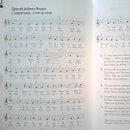 Lied - Überall blühen Rosen - (Musik, Lied, Ton)
