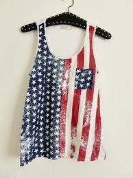 Top mit Amerkia Flagge - (Top, Amerkia Flagge)