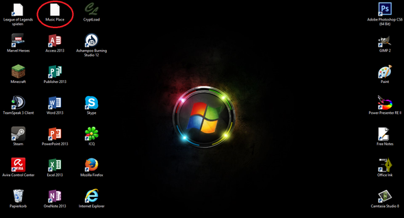 Screenshot meines Desktop - (Computer, Windows 8, Toshiba)