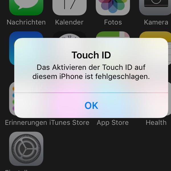 iphone touchid geht nicht mehr