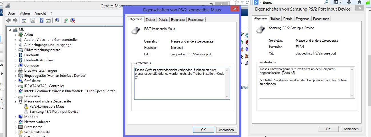 Synaptics ps2 port touchpad