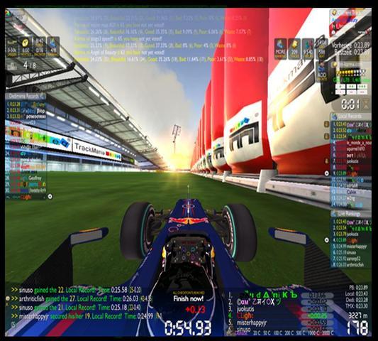 So sieht es aus . - (Spiele, Rennen, Trackmania)