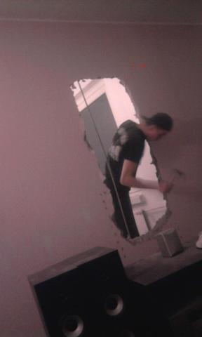 da ist das loch - (Wand, Statik, Raumgestaltung)