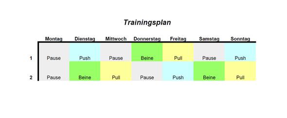 Dies ist der Trainingsplan. - (Fitness, Training, Krafttraining)