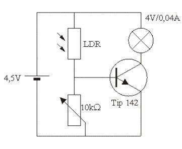 transistor als verst rker anwendung bei lichtschranken. Black Bedroom Furniture Sets. Home Design Ideas