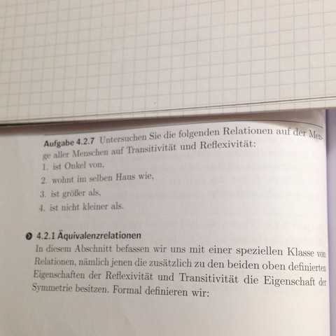 Relationen   - (Mathe, Relation, reflexiv)