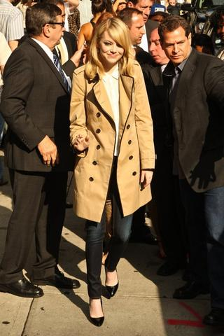 Emma Stone Trenchcoat - (Kleidung, Laden, Shopping)