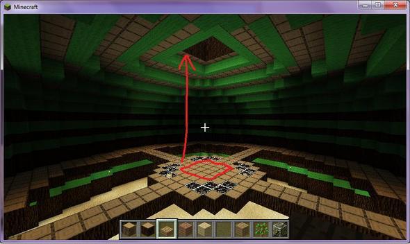 die kuppel von innen - (Minecraft, bauen, Baum)