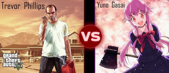 Trevor Phillips vs Yuno Gasai  - (Anime, GTA 5, vs)