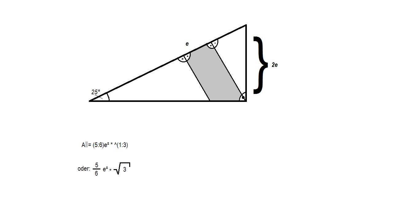 Trigonometrie in Abhängigkeit der Formvariable (e) (Mathematik)