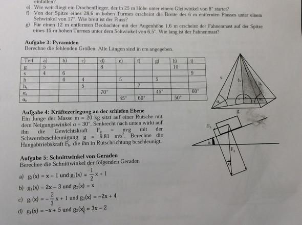 trigonometrie in einer pyramiede wann muss ich sin cos tan cotan verwenden mathematik. Black Bedroom Furniture Sets. Home Design Ideas