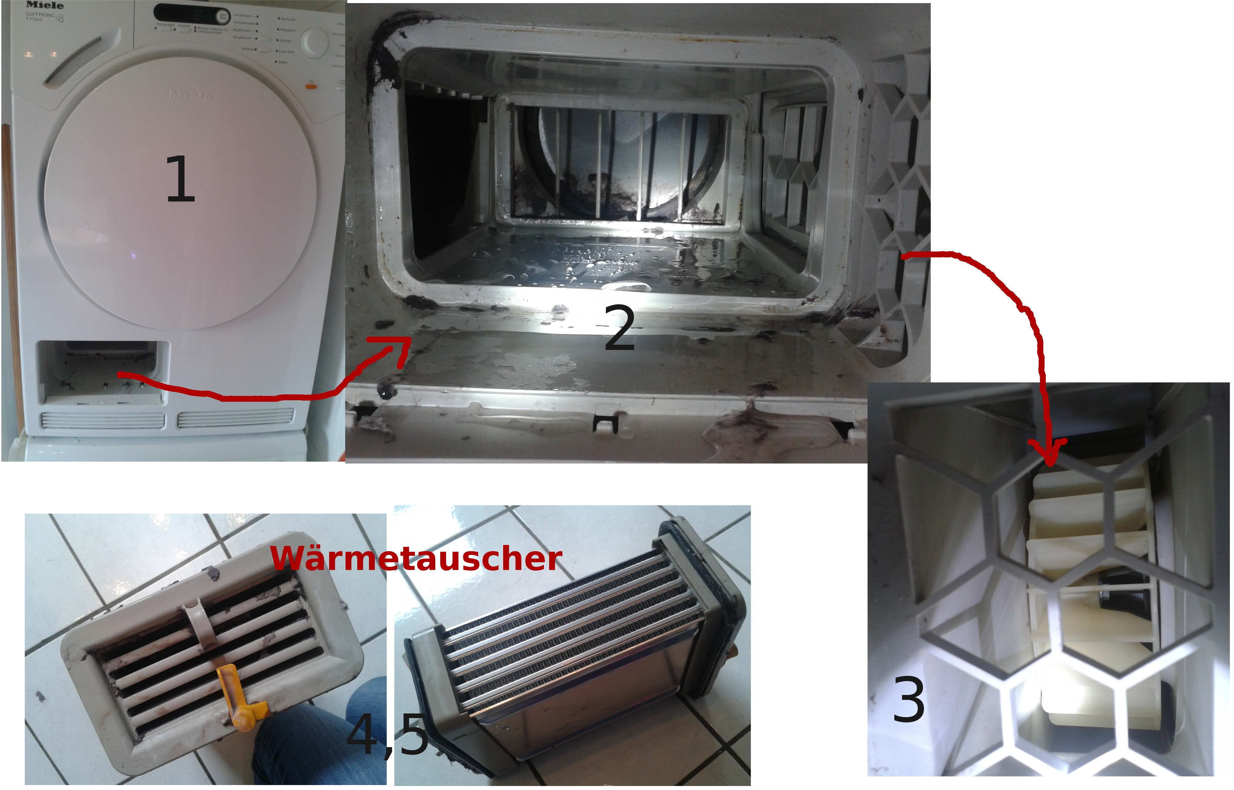 Trockner miele softtronic t c defekt elektrik