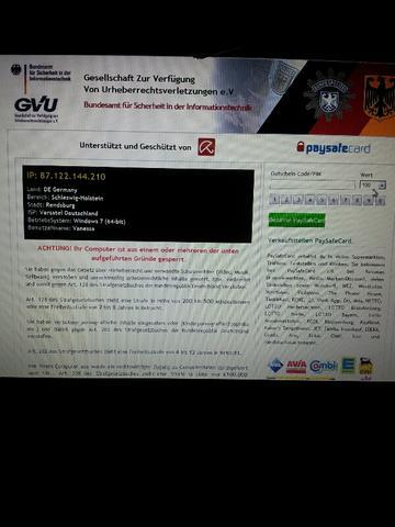 Der Start Virus (Mit diesem Bild ist der Pc nicht weiter Benutzbar ausser an un - (Computer, PC, Virus)