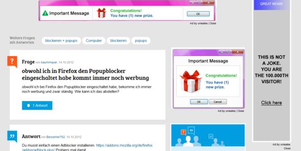 Werbung-Problem - (Werbung, Firefox, add-on)