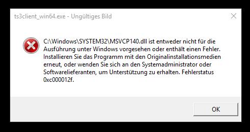 Fehler - (Computer, Windows, Teamspeak)