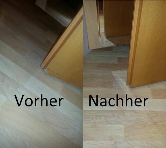 Die Tür vorher und nach der reperatuer - (Wohnung, Mietrecht, Miete)