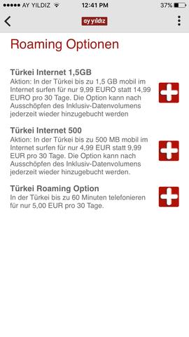 1,5gb türkei internet - (Flat, ay yildiz)