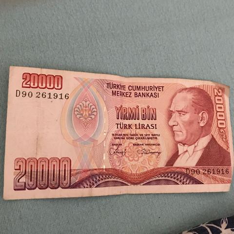 20 000 lira in euro