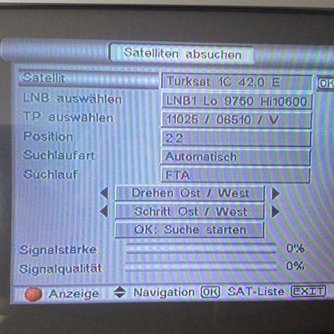 Turksat 4a Tv Fernseher Satellit