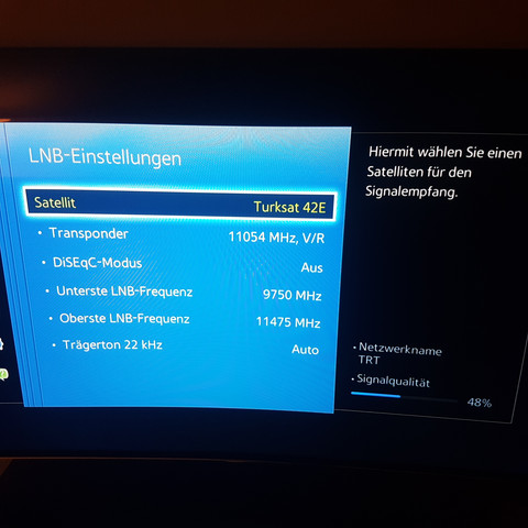 Turksat Frequenzen Richtig Einstellen Tv Satellit Samsung Tv