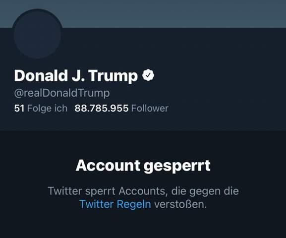 Tumps Twitter Account wurde soeben permanent gesperrt was haltet ihr davon?
