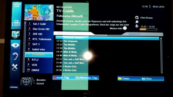 Klar erkennbar bei dunklen Farben! - (TV, Reparatur, Fehlersuche)