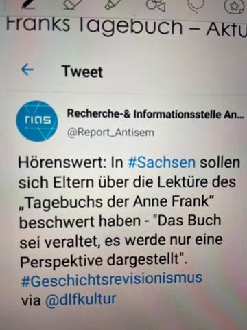 Tweet das Tagebuch der Anne Frank. Was haltet ihr davon?