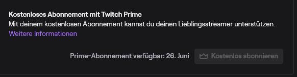 Twitch Prime Abonnieren