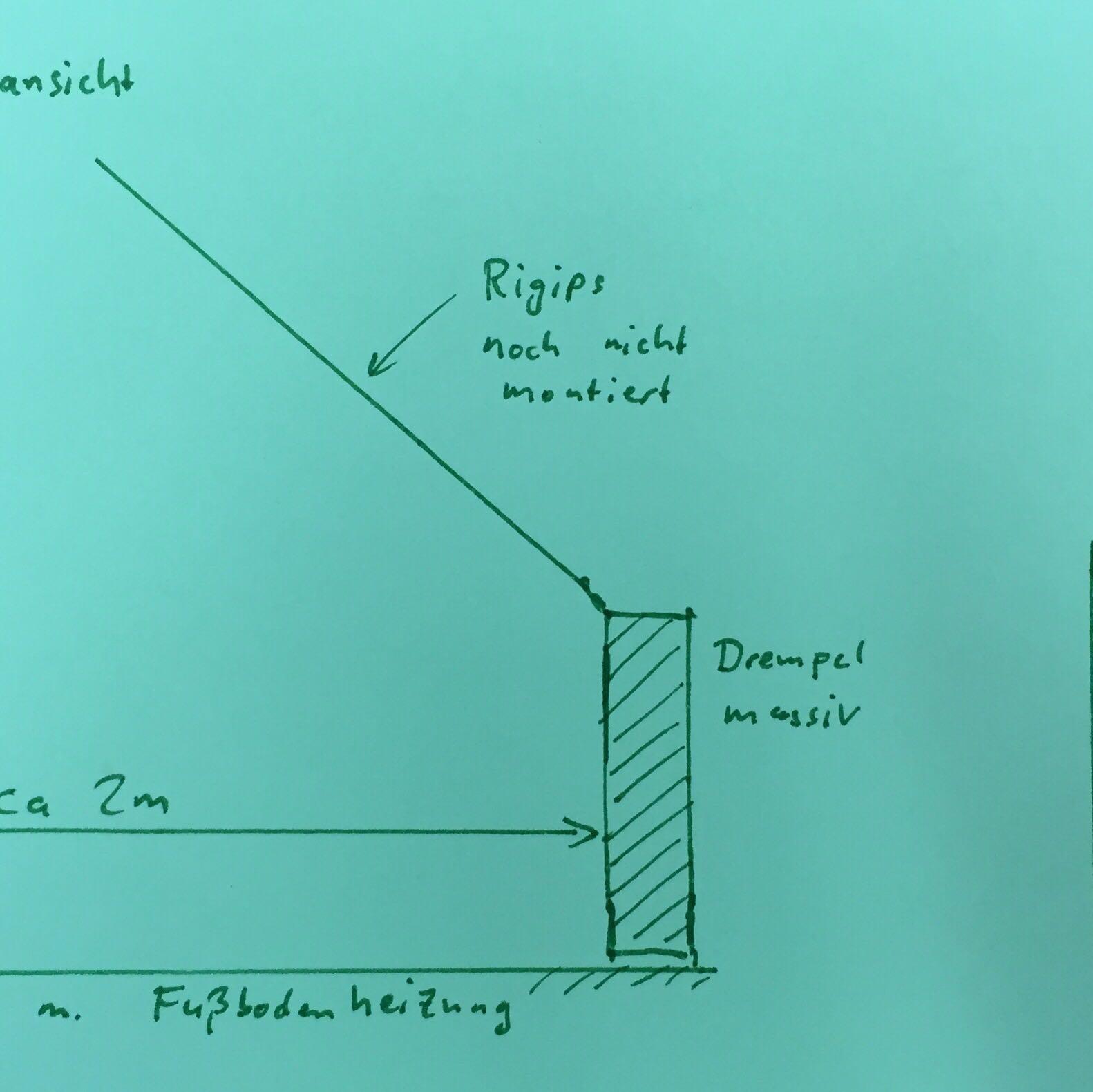 u profil auf estrich m fb heizung trockenbau rigips. Black Bedroom Furniture Sets. Home Design Ideas