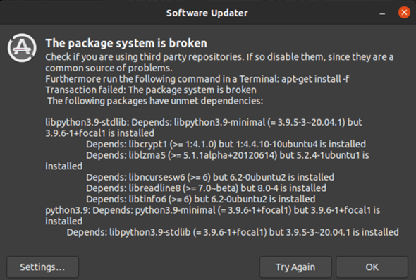 Ubuntu Package System is broken?