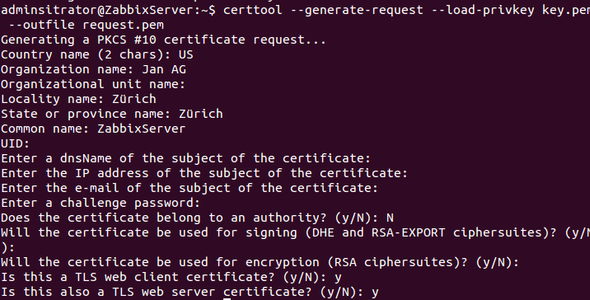 Schritt 4 Zertifikat - (Ubuntu, zertifikat,  fail)