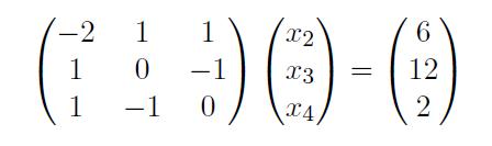überprüfen sie mithilfe der Determinante, ob folgende Gleichungssystem eine eindeutige Lösung besitzt?