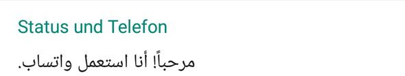 Status übersetzen  - (Übersetzen, arabisch - deutsch)