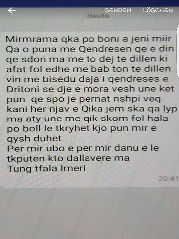 Text  - (Übersetzung, Kosovo, albaner)