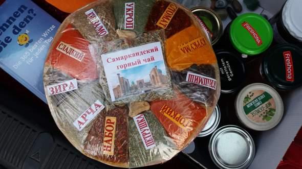 Übersetzung usbekische Gewürzetiketten?
