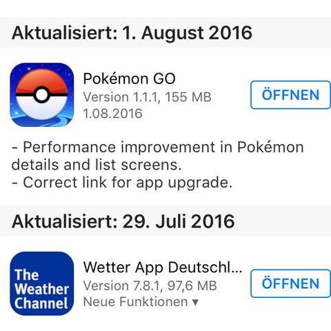 Pokemon go app Update  - (Uebersetzung, Pokemon Go)