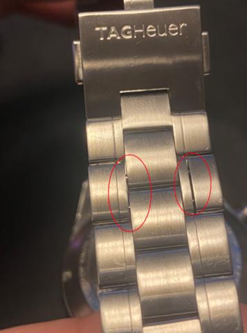 Uhr: Stift hat sich am Glied gelöst?