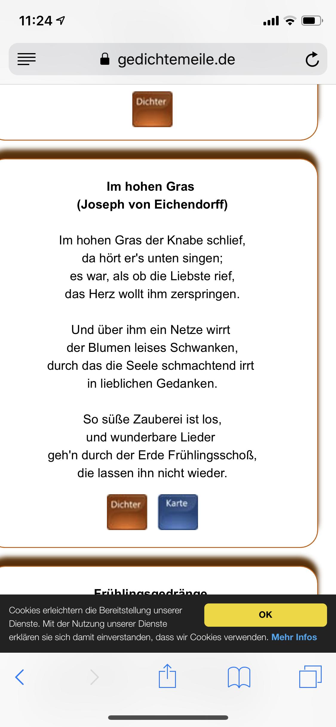 Um Was Geht Es In Diesem Gedicht Von Eichendorff Deutsch