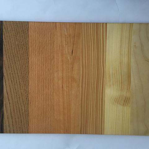 Geölte Seite des Brettes - (Natur, Holz, Baum)
