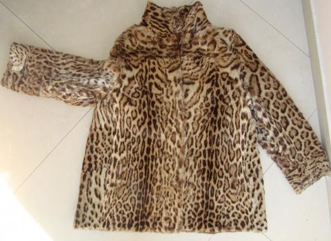 Jacke von vorne - (Pelz, Leopard, Raubkatzen)