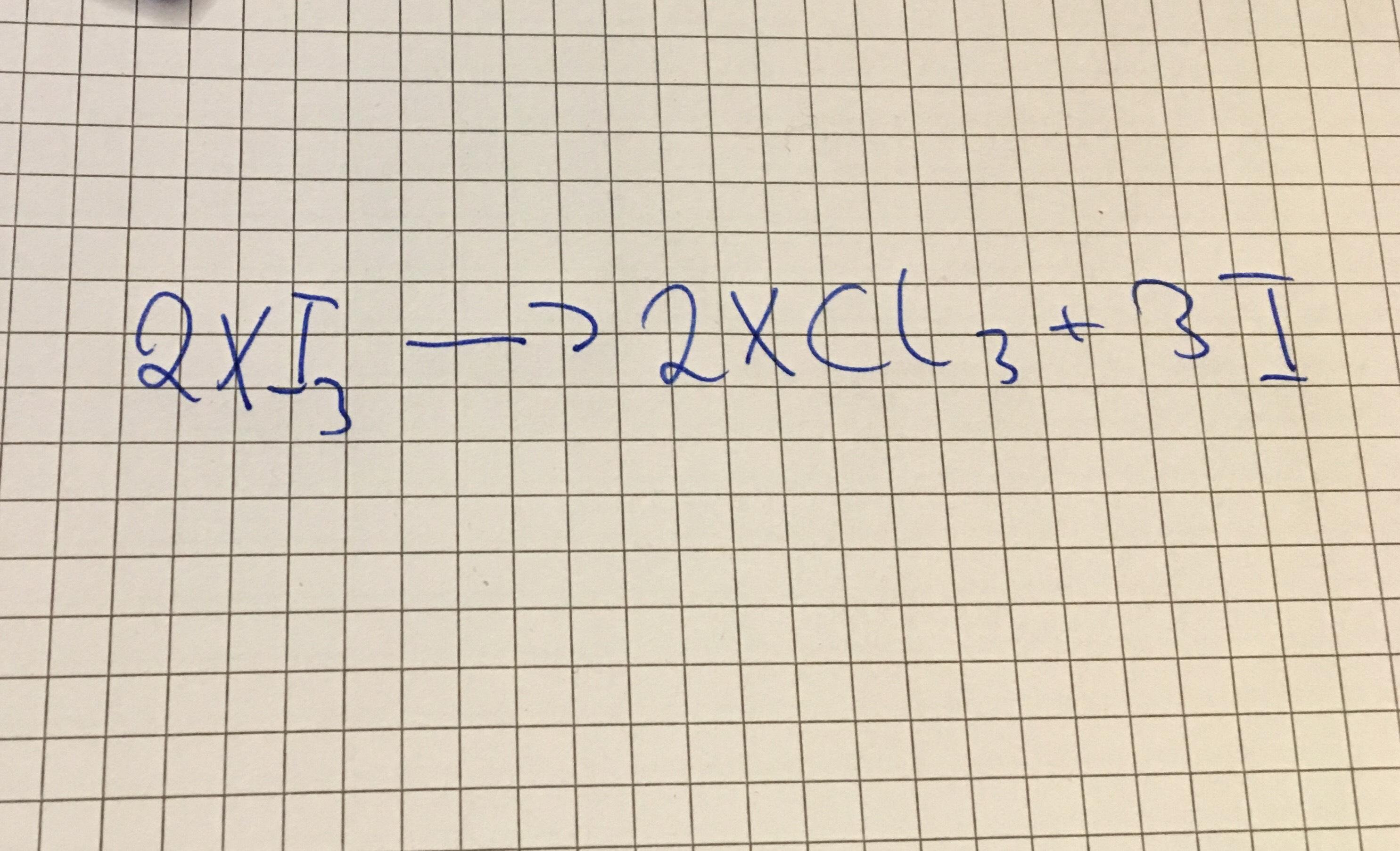 Um welches Element handelt es sich bei X? (Schule, Mathematik, Physik)