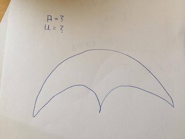 umfang fl cheninhalt einer merkw rdigen form berechnen schule mathematik. Black Bedroom Furniture Sets. Home Design Ideas
