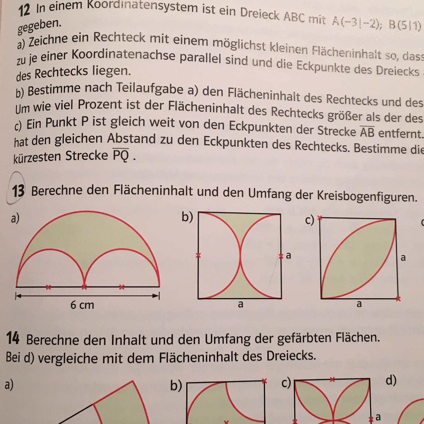 Umfang der Kreisbogenfigur? (Mathe)