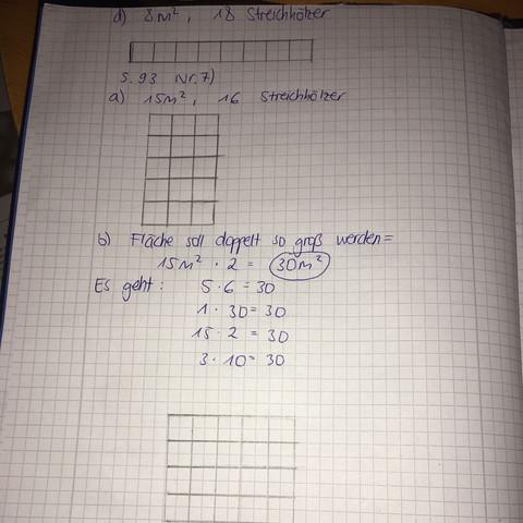 Umfang, Flächeninhalt Klasse 4? (Mathe, Geometrie, Fläche)