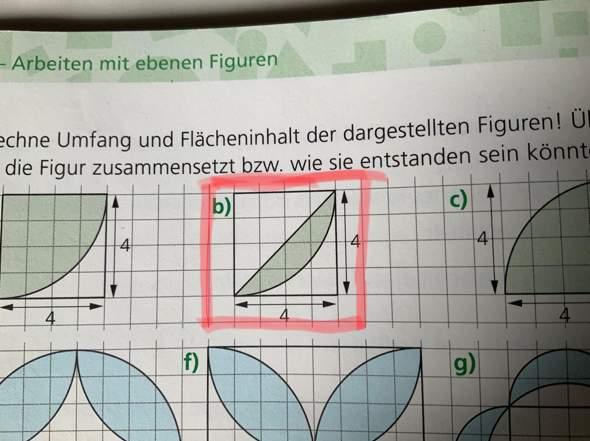 Umfang und Fläche von Figur ausrechnen?