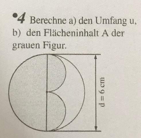 Umfang und Flächeninhalt Figur berechnen?