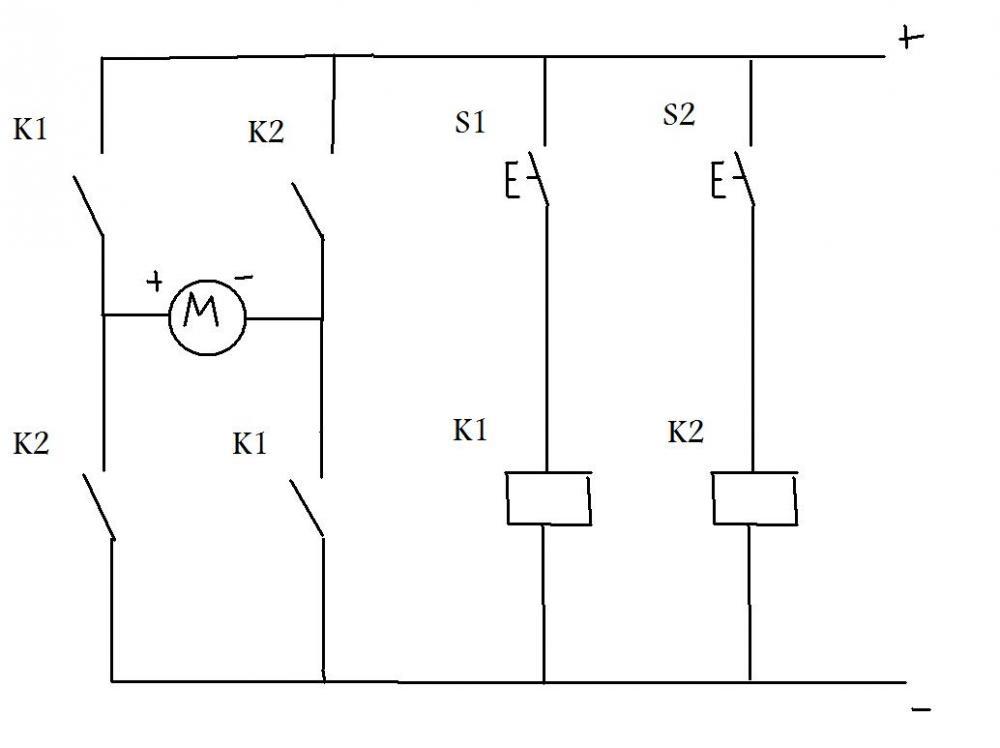 Umpolung eines Gleichstromotors duch H-Brücke (Elektronik